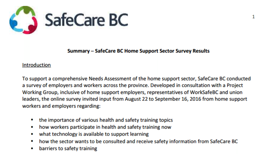 safecarebc-survey