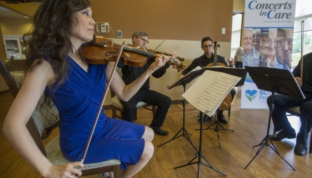 Borealis String Quartet in the Concerts in Care performance. JASON PAYNE / PNG