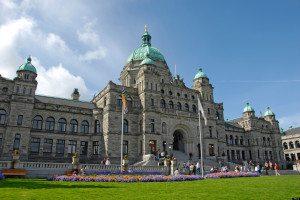 Parliament Buildings Legislative Assembly Victoria British Columbia BC Canada neo baroque design architect Francis Rattenbury