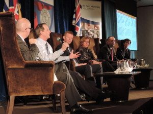 Stephen Brown, Deputy Health Minister along with a panel of Health Authority CFOs at a Care to Chat on February 4th