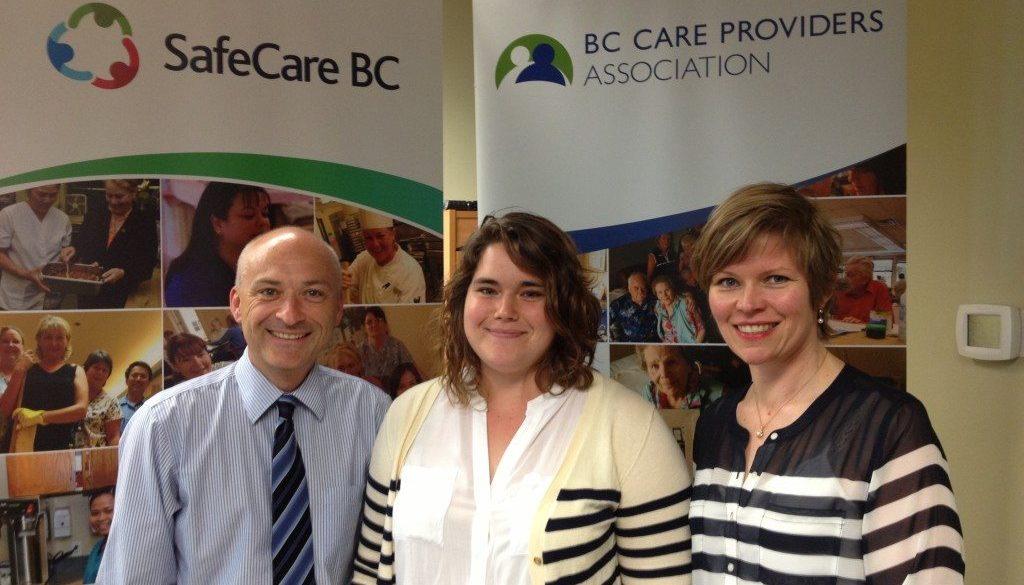 Daniel Fontaine, CEO (Left), Lara Croll, Intern (Center), Eva Lewis, SFU Co-op Coordinator (Right)