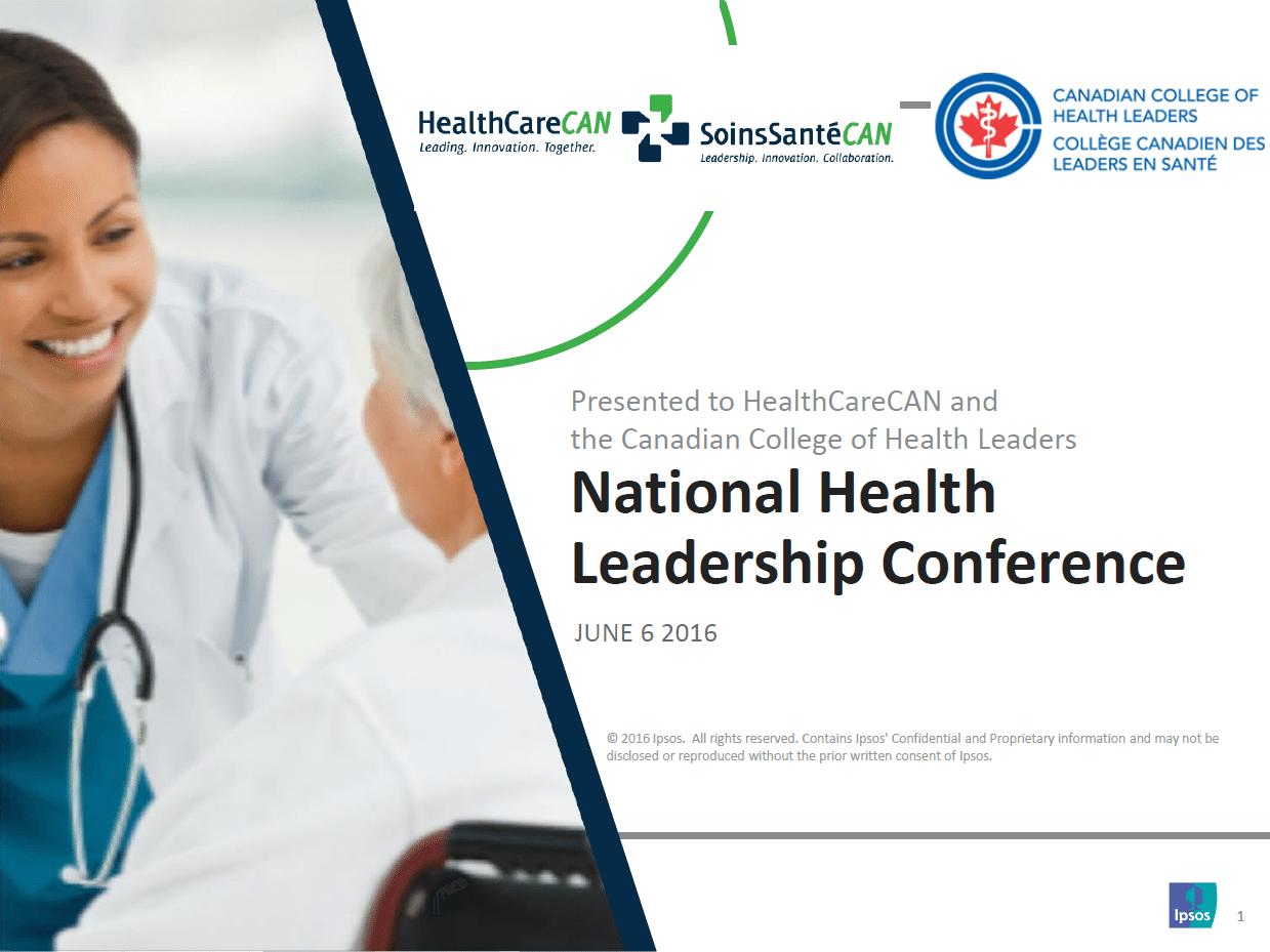 Ipsos Reid National health Leadership Conference POll