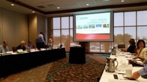 The meeting room at the Annual CALTC Conference in Charlottetown, P.E.I.