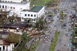 The aftermath of Typhoon Haiyan in Tacloban, Philippines, on Nov. 9, 2013.