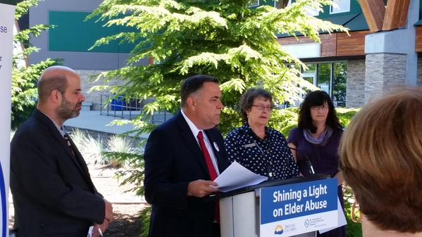 Dr. Darryl Plecas announces $2.6 million in new funding to help reduce the incidence of elder abuse